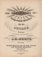 J. K. Mertz Opern-Revue, Op. 8 Nos. 33-38 Volume V (digital edition)